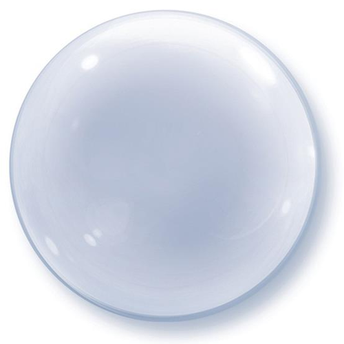 "Balon foliowy 20"" Bubble Deco Transparentny Qualatex"
