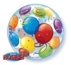 "Balon foliowy 22"" Bubble Deco HAPPY BIRTHDAY Qualatex"