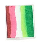 Rainbow Cake 50 g Light Red/ Coral Pink/ White/ Light Green/ Green PartyXplosion