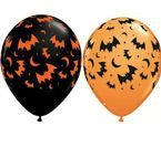 Balon Qualatex 11 cali Nietoperze Halloween 1 szt