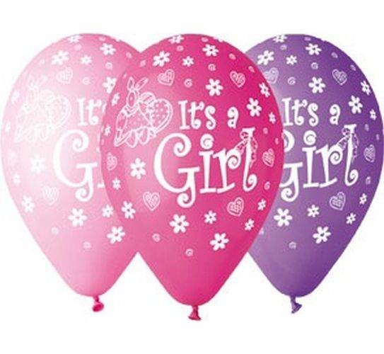 Gemar 12 cali 5 szt It's a Girl balony