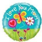 "I love Mum 18"" balon foliowy okrągły Qualatex"