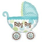 Wózek BABY BOY balon foliowy Super Shape Anagram B2