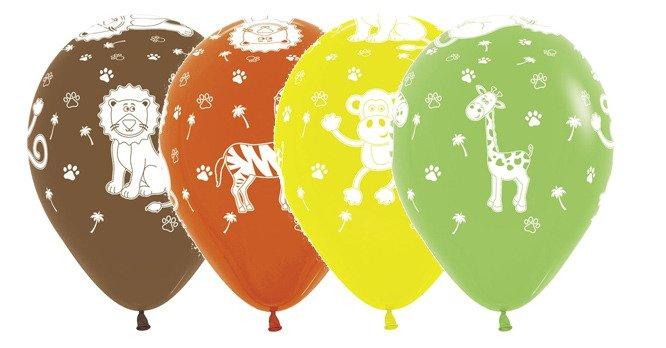 502879be5e2fbf Balony Sempertex Zwierzęta z dżungli 12'' 1 sztuka Brązowy Brązowy ...