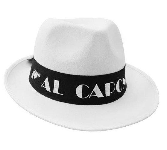 b4b362556 Kapelusz Gangstera Al Capone Biały | Przebrania \ Nakrycia głowy ...
