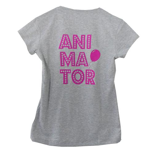 d4aff1ec6ff780 Koszulka damska ANIMATOR krótki rękaw Szary | Przebrania \ Strój ...