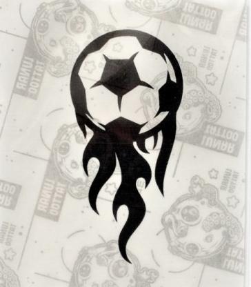 Quick Tattoo Szablon Do Tatuażu Brokatowego Piłka Nożna