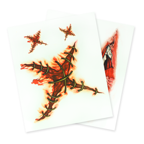 Tatuaż Krwawy Krzyż Malowanie Twarzy Akcesoria Do