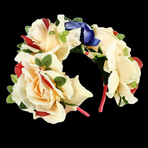 Wianek Wiosna Duże Kwiaty Okazje Hawajskie Party