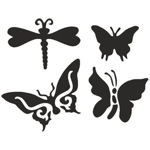 Zestawy Szablonów 4 Wzory Eulenspiegel Butterlfy Motyl