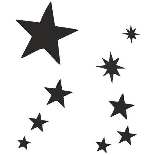 Zestawy Szablonów 4 Wzory Eulenspiegel Stars Gwiazdki