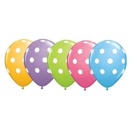 Balon Qualatex 11 cali Grochy pastel 1 szt